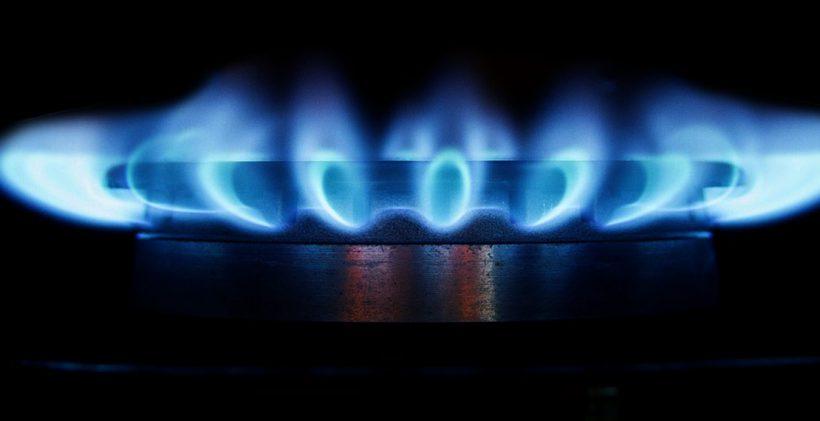 blue gas hob